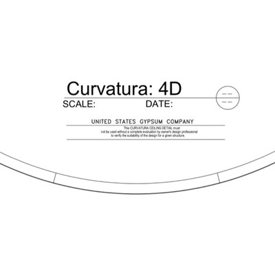 09 54 13.13.164 Specialty Ceilings Curvatura 4D Profile