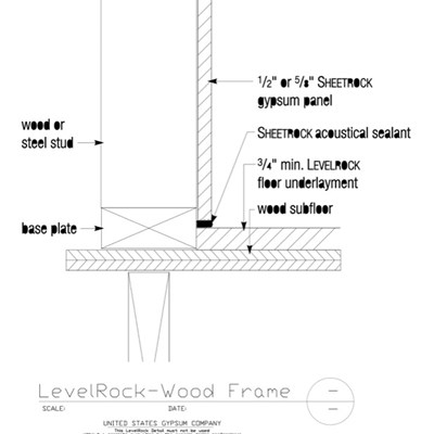 09 54 13.203 LevelRock Before DW Wood Frame Over Wood