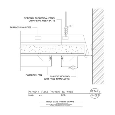 09 54 23.33.171 Specialty Ceilings Paraline Pan1 Parallel To Wall1