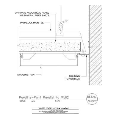 09 54 23.33.172 Specialty Ceilings Paraline Pan1 Parallel To Wall2