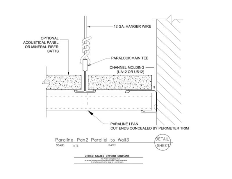 USG Design Studio | 09 54 23.33.174 Specialty Ceilings Paraline Pan1 ...