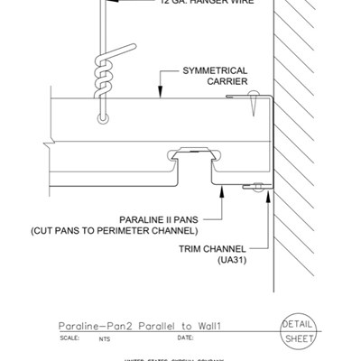 09 54 23.33.175 Specialty Ceilings Paraline Pan2 Parallel To Wall1