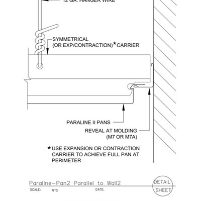 09 54 23.33.176 Specialty Ceilings Paraline Pan2 Parallel To Wall2
