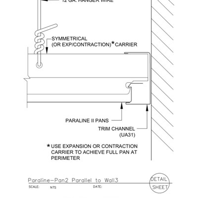 09 54 23.33.177 Specialty Ceilings Paraline Pan2 Parallel To Wall3