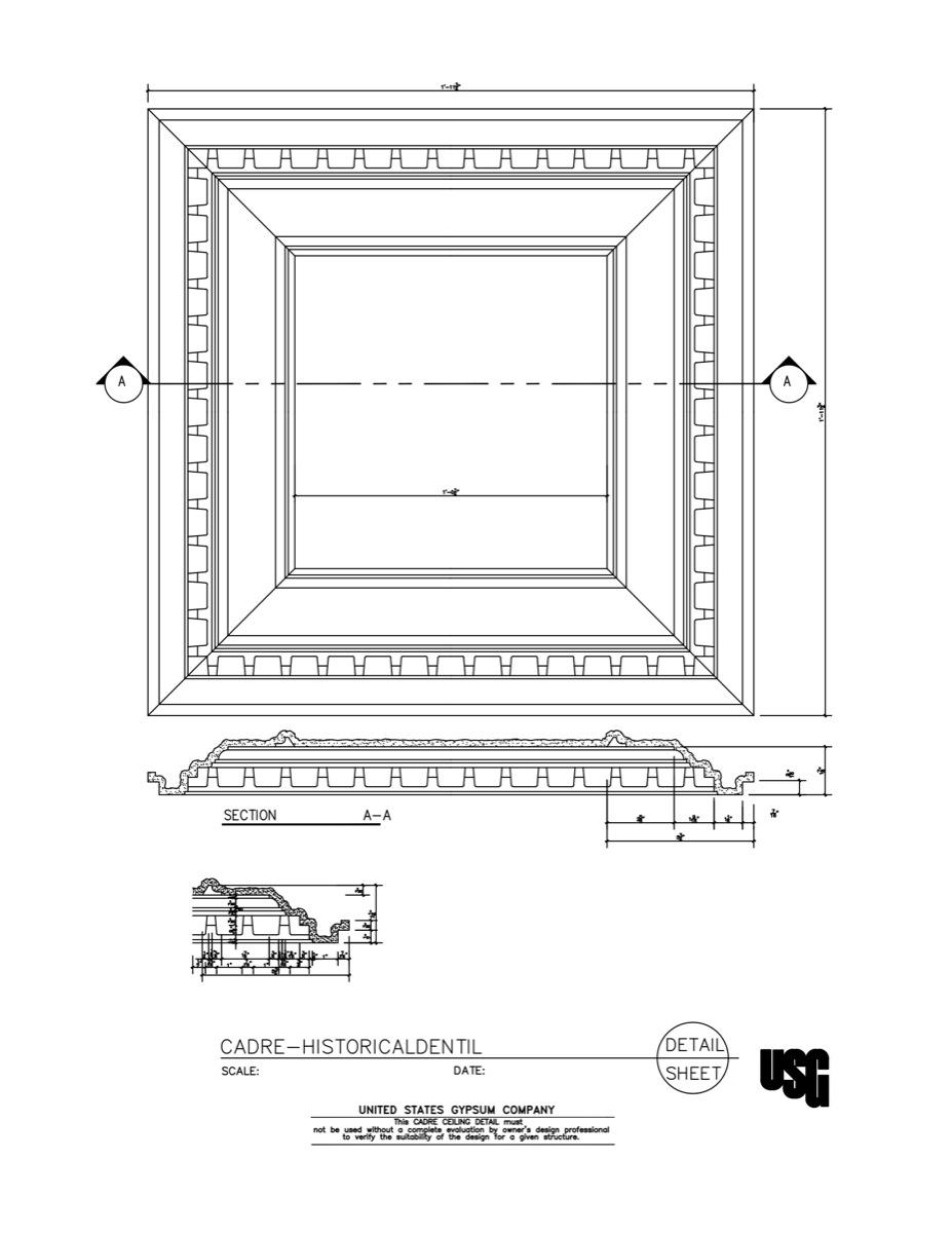 usg design studio 09 54 specialty ceilings cadre historical dentil download details. Black Bedroom Furniture Sets. Home Design Ideas