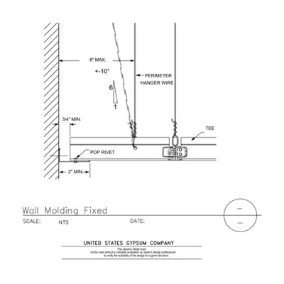 13 05 41.115 Seismic Detail Wall Molding Fixed Standard IBCDEF