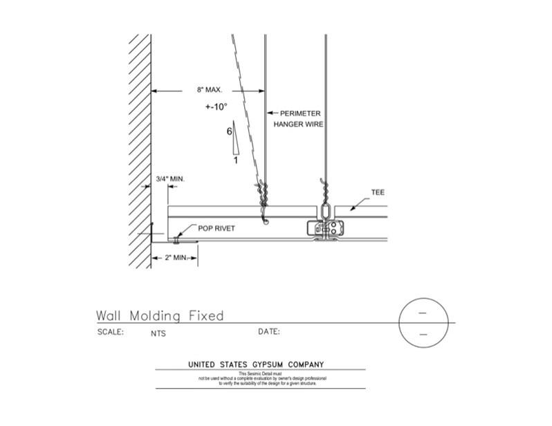 Usg Design Studio 13 05 41 115 Seismic Detail Wall