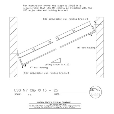 13 05 411210 Seismic Detail Ceiling Slope USG M7 Clip At