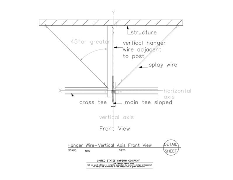 USG Design Studio | 13 05 41.1211 Seismic Detail Ceiling Slope ...