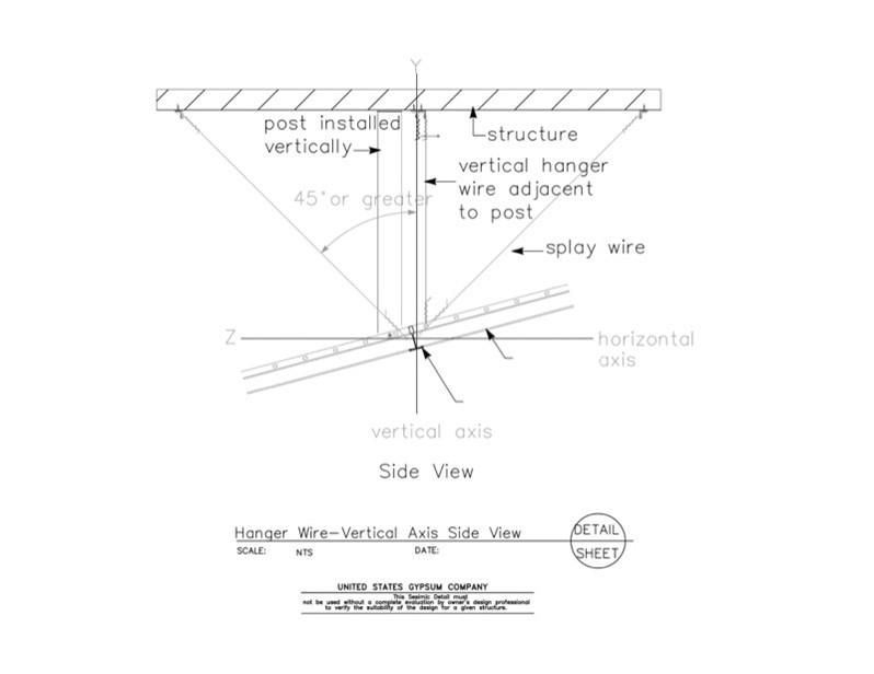 13 05 41.1212 Seismic Detail Ceiling Slope Hanger Wire Details ...