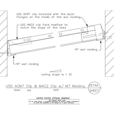 13 05 41.123 Seismic Detail Ceiling Slope Less than 15 degree ACM7-MAC2 Clip