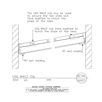 13 05 41.126 Seismic Detail Ceiling Slope MAC2 Clip at Slope