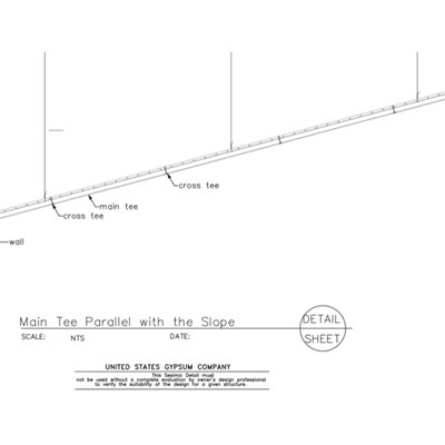 13 05 41.127 Seismic Detail Ceiling Slope Main Tee Parallel to  the Slope-Model