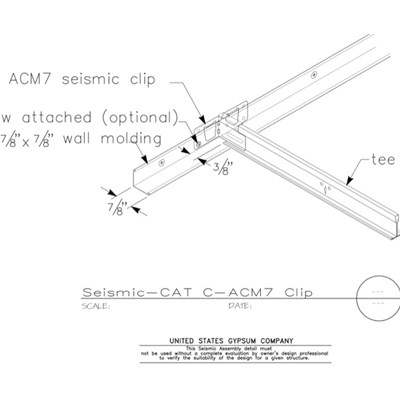 13 05 41.134 Seismic Detail Category C Perimeter Treatment AMC7 Seismic Clip