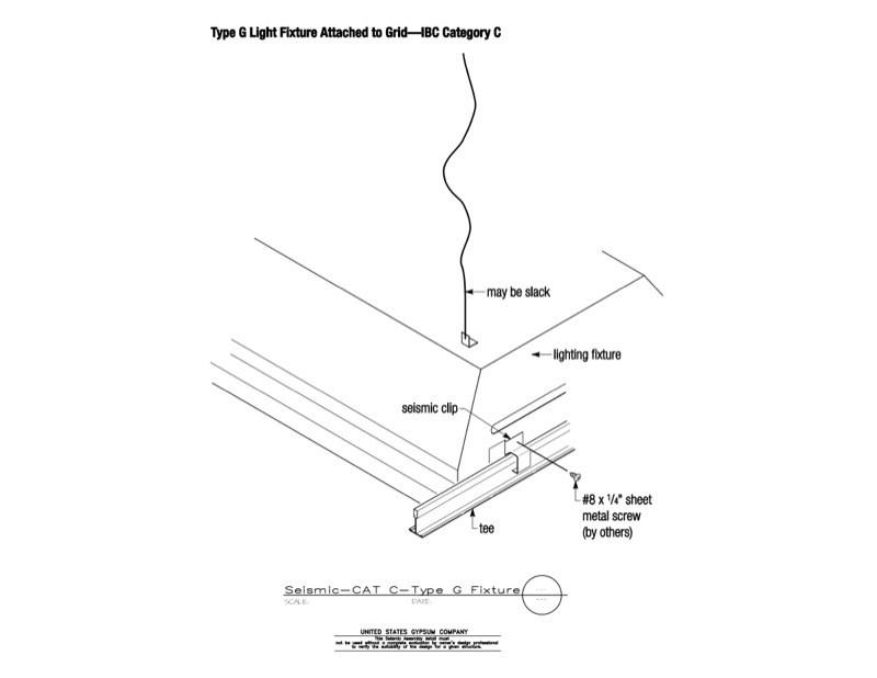 type of lighting fixtures.  Lighting 13 05 41136 Seismic Detail Category C Type G Light Fixture On Of Lighting Fixtures
