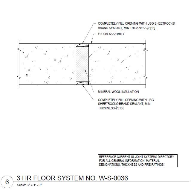 Usg design studio usg fire resistant assemblies floor for 1 hour floor ceiling assembly