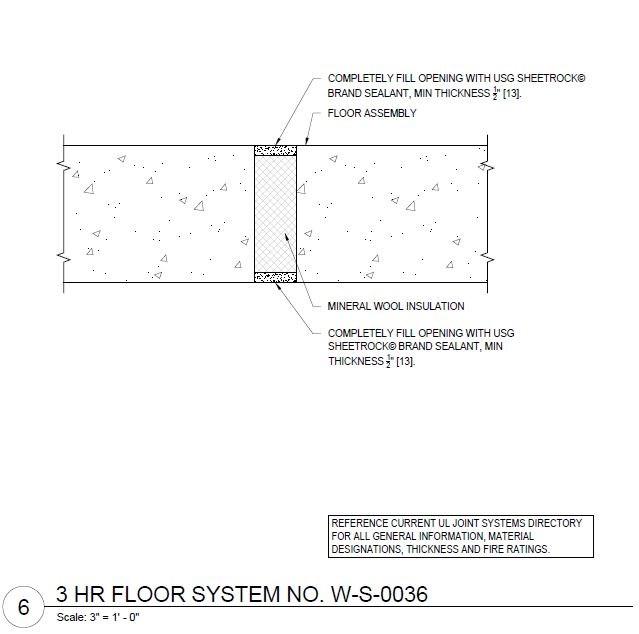 Usg Design Studio Usg Fire Resistant Assemblies Floor